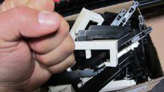 box full of worn out keys